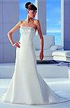 satin, cristale Swarovski pe corset si la baza rochiei