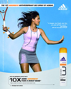 Primul deodorant anti-perspirant cu efect absorbant de la adidas