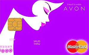 Card de credit parfumat, de la Avon