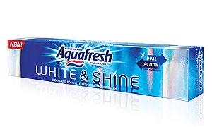 Aquafresh  White & Shine, mai mult decât albire, stralucire