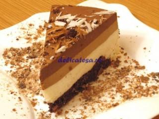 Tort 3 mousse de ciocolata