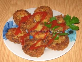 Chiftele din cartofi cu ciuperci