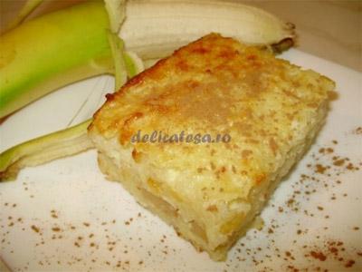Budincă de orez cu banane